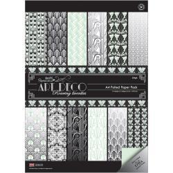 A4 paper pack foiled art deco