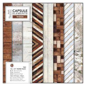 "12"" paper pack elements wood"