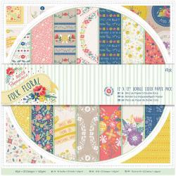 """12"""" paper pack - folk floral"""