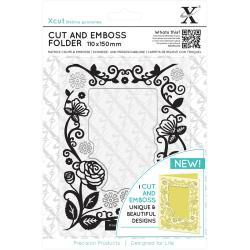 cut & emboss - floral frame