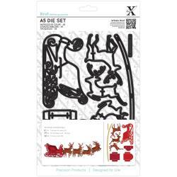 A5 die set reindeer and sleigh