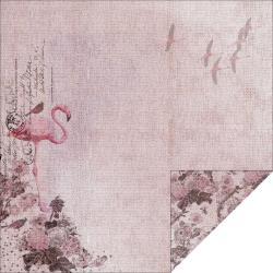 "12"" paper - pink flamingos"