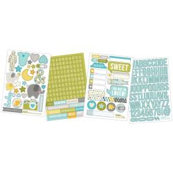 "Baby Boy - Sn@p! Stickers 4""X6"" Sheets 4/Pkg"