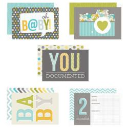 "Baby Boy - Sn@p! Double-Sided Card Pack 4""X6"" 24/Pkg"