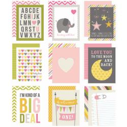 "Baby Girl - Sn@p! Double-Sided Card Pack 3""X4"" 48/Pkg"