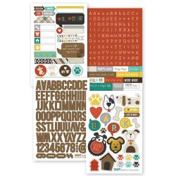 """Dog - Sn@p! Stickers 4""""X6"""" Sheets 4/Pkg"""