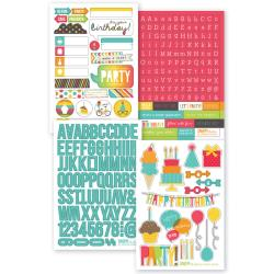 "Birthday - Sn@p! Stickers 4""X6"" Sheets 4/Pkg"