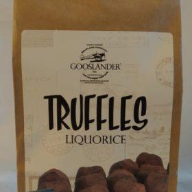 Gooslander sjokoladetrøfler 100g - lakris