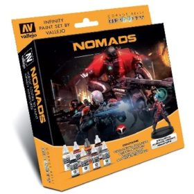 Vallejo Infinity Nomades Paint Set Incl. Figure 8X17ML