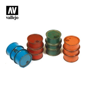 Vallejo Scenics - Civilian Fuel Drums 4stk