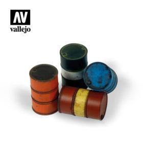 Vallejo Scenics - Modern Fuel Drums 4stk