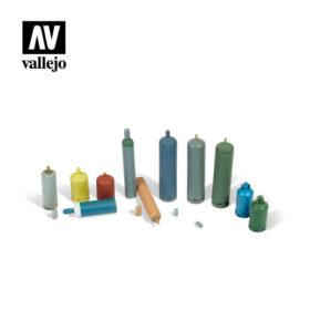 Vallejo Scenics - Modern Gas Bottles 11stk