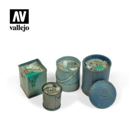 Vallejo Scenics - Assorted Garbage Bins (#2) 4stk