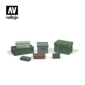 Vallejo Scenics - Universal Metal Cases 7stk