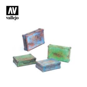 Vallejo Scenics - Metal Suitcases 4stk