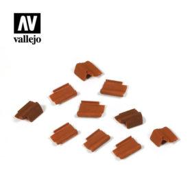 Vallejo Scenics - Roof Tiles set, ca 5g