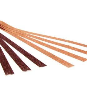 stjernestrimler glitter kobber/brun