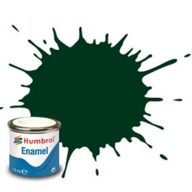 Humbrol enamel 14ml gloss brunswick green 3