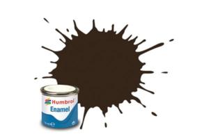 Humbrol enamel 14ml gloss service brown 10