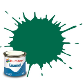 Humbrol enamel 14ml matt dark green 30
