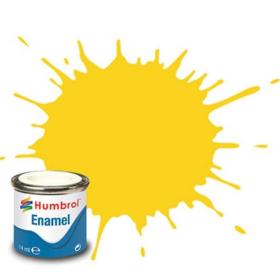 Humbrol enamel 14ml gloss yellow 69
