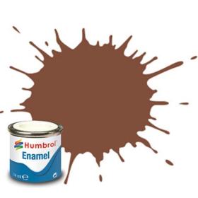Humbrol enamel 14ml matt brown 186