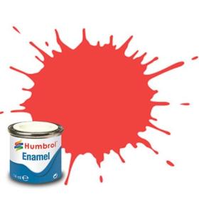 Humbrol enamel 14ml gloss fluo.fire orange 209