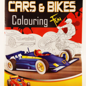 coloring A4 - cars & bikes