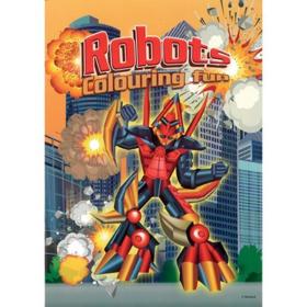 coloring A4 - robots