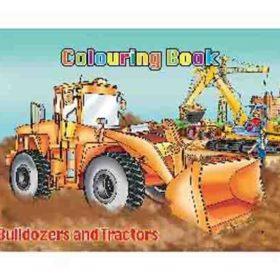 coloring A4 - bulldozers & tractors