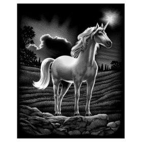 Skrapefolie A4 silver unicorn