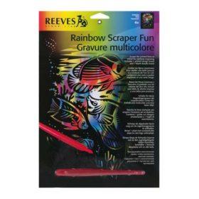 Skrapefolie A4 rainbow fun fish