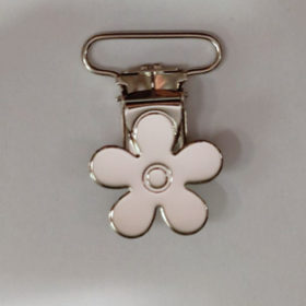 Seleklips blomst 25mm blank