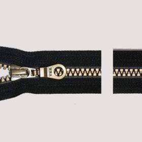 YKK glidelås 6mm vislon, delbar antik 80cm - sort