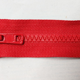 YKK glidelås 6mm vislon, delbar 50cm - rød