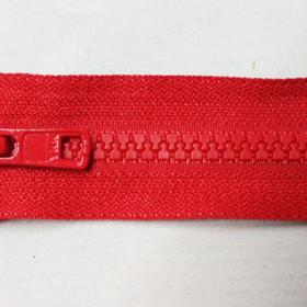 YKK glidelås 6mm vislon, delbar 55cm - rød