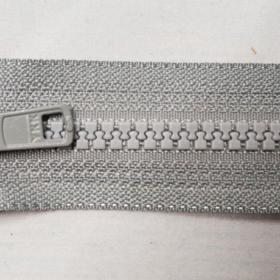 YKK glidelås 6mm vislon, delbar 55cm - grå