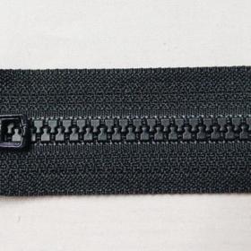 YKK glidelås 6mm vislon, delbar 55cm - sort