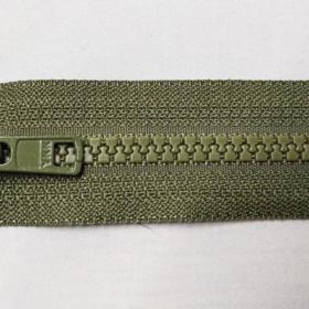YKK glidelås 6mm vislon, delbar 65cm - armygrønn