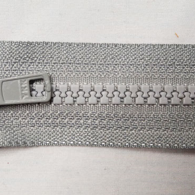 YKK glidelås 6mm vislon, delbar 65cm - grå