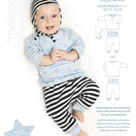 Minikrea papirmønster - Babysæt med hue, 0-2 år