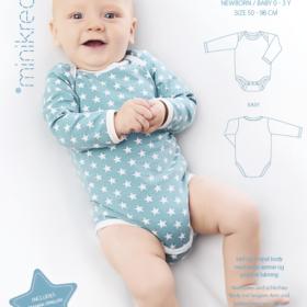 Minikrea papirmønster - Babybody, 0-3 år