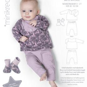 Minikrea papirmønster - Babysæt med sko, 0-2 år