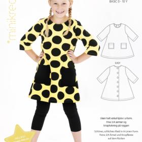 Minikrea papirmønster - A-kjole, 0-10 år