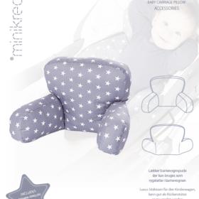 Minikrea papirmønster - Barnevognspude