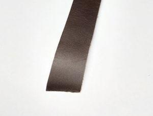 Lærreim ca 115x2cm mørk brun