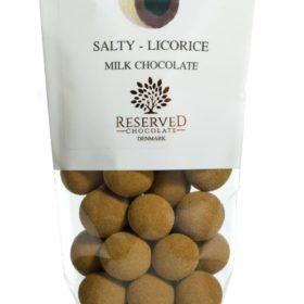 Salt lakris - Melkesjokolade & lakrispulver