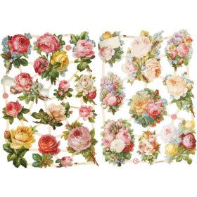 Glansbilder, roser, 2ark