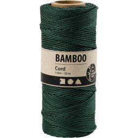 Bambussnor, 1mm, 65m - grønn