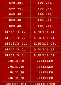 Klistremerker - god jul 3